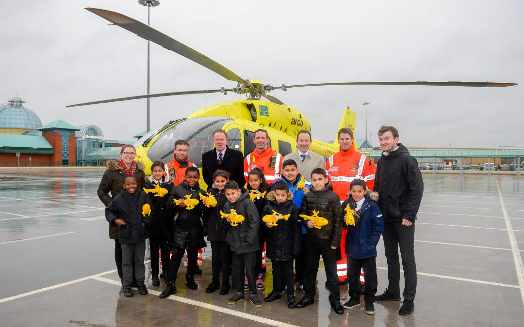 Opal's visit to meet the team from the Yorkshire Air Ambulance.