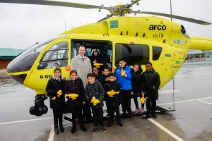 Opal class enjoying learning more about the Yorkshire Air Ambulance